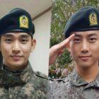 Se informa que Kim Soo Hyun y Taecyeon de 2PM fueron promovidos a sargentos por tener una conducta sobresaliente