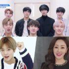 """MONSTA X, Park Ji Hoon, Oh Na Ra y más animan a los aprendices de """"Produce X 101"""""""