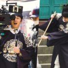 """Jung Il Woo da una mano amiga a los miembros del personal en el detrás de cámaras de """"Haechi"""""""
