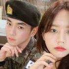 Hyeri de Girl's Day y Park Na Rae visitan a Key de SHINee en el ejército