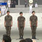 CNU de B1A4, N de VIXX, Kim Min Suk, Changsub de BTOB y más cantan himno nacional en evento del día conmemorativo
