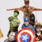 """El elenco de """"Running Man"""" está listo para salvar el día en sesión de fotos de Los Vengadores"""