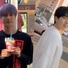 """Sandeul de B1A4 muestra apoyo a su amigo del """"92 Club"""" Jin de BTS en una reunión con fans de Seúl"""