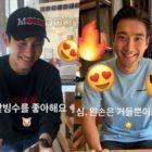 Changmin de TVXQ y Choi Siwon de Super Junior disfrutan de una linda cita con postre