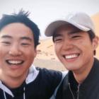 """Park Bo Gum envía apoyo a su co-estrella de """"Reply 1988"""", Ahn Jae Hong, en el set de su nuevo drama"""