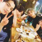 Jungkook revela una foto de la reunión con sus amigos de la '97-Line' Cha Eun Woo, Mingyu y Yugyeom
