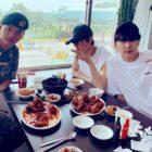 Leo y Ken de VIXX visitan a N en el ejército y disfrutan de una buena comida juntos