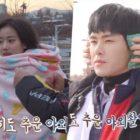 Hoya y Naeun de APRIL hacen frente al frío juntos para nuevo drama de hip hop