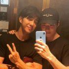 Sehun de EXO deleita a los fans al compartir una foto con Lee Seung Gi