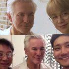 El director Baz Luhrmann pasa tiempo con Kang Daniel, Choi Siwon, y Lee Soo Man en Seúl