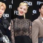 Kang Daniel, Sulli, Ji Soo y más asisten con look rockero a un evento de Fendi
