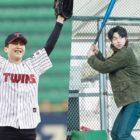 Guapas estrellas masculinas que son seguidores del baseball coreano