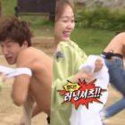 """Jun So Min y HaHa le quitan la camiseta a Lee Kwang Soo para ganar un juego en """"Running Man"""""""