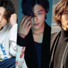 Estrellas masculinas que emiten perfectas vibras de otoño a través de su cabello largo dividido a la mitad