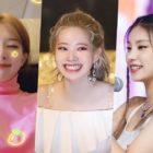 Ídolos femeninas con uni párpados que dan forma a encantadores ojos sonrientes