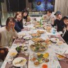 """El elenco de """"E.X.I.T"""" incluyendo YoonA de Girls' Generation y Jo Jung Suk se reúnen para su cena de fin de año"""