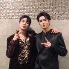 Minhyuk de MONSTA X y Jaehyun de NCT se encontraron en Chicago