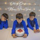 Song Il Gook y sus trillizos comparten sus saludos festivos