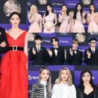 Estrellas pasean por la alfombra roja en el primer día de los 34th Golden Disc Awards