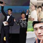 V de BTS, Park Seo Joon, Park Hyung Sik y Peakboy, felicitan a Choi Woo Shik por ganar en los SAG Awards