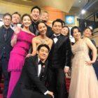 """Las estrellas de """"Parasite"""" Jo Yeo Jeong, Park So Dam y Choi Woo Shik comparten fotos de su inolvidable noche de los Oscar"""