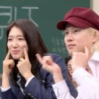 """Park Shin Hye + Kim Heechul de Super Junior hacen juntos el reto de """"Any Song"""" de Zico"""