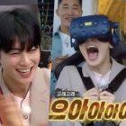 """Cha Eun Woo de ASTRO se asusta divertidamente durante el paseo en un parque de atracciones VR en """"Master In The House"""""""