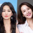 """Song Hye Kyo responde cariñosamente a la estrella de """"Parasite"""", Jo Yeo Jeong, publicando una foto antigua de sus días de secundaria"""