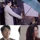 "Son Ho Jun intenta proteger a Song Ji Hyo de la lluvia mientras filman ""Was It Love?"""