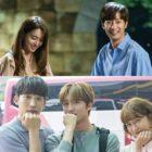 """El elenco de """"Once Again"""" anima el set con sonrisas brillantes detrás de las cámaras"""