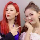 Seulgi de Red Velvet y Hyojung de Oh My Girl muestran su amistad con una foto linda