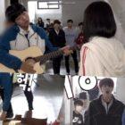 """Younghoon de The Boyz se preocupa por la guitarra rota de Park Ji Hoon en el detrás de cámaras de """"Love Revolution"""""""