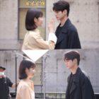 "Shin Ye Eun y Ong Seong Wu juegan mientras filman escenas dramáticas para ""More Than Friends"""