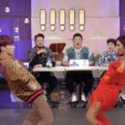 "San de ATEEZ y Jessi bailan juntos ""What Type Of X"" en ""Immortal Songs"""