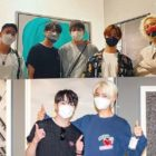 Jinhwan de iKON, Lee Jin Hyuk de UP10TION y GRAY visitan la exhibición de Kang Seung Yoon y Song Mino de WINNER