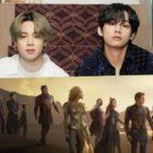 """Se confirma que """"Friends"""" de BTS, cantada por Jimin y V, será parte de la banda sonora de """"Eternals"""" de Marvel"""