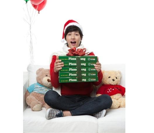 Song Joong Ki Models for Pizzaetang