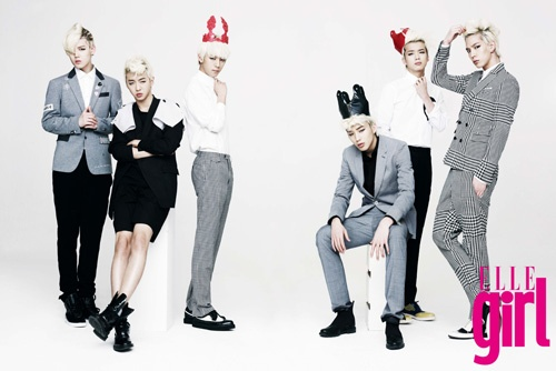 B.A.P Sheds Warrior Image and Becomes British Princes for ELLE GIRL