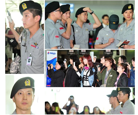 Various Enlisted Stars Spotted at Incheon Airport