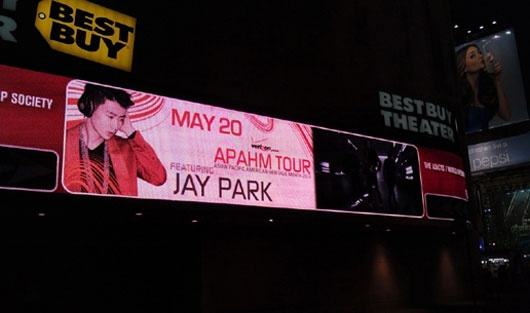 Jay Park's Image Appears in Times Square