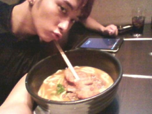 2PM's Chansung Eating Udon In Japan