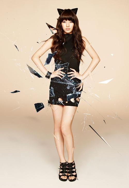 "miss A's Suzy Rocks the ""Gyaru"" Look for Japanese Magazine"