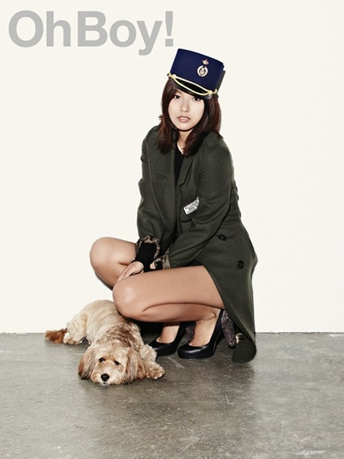 Lee Hyori Poses with Her Dog for Oh Boy! Magazine