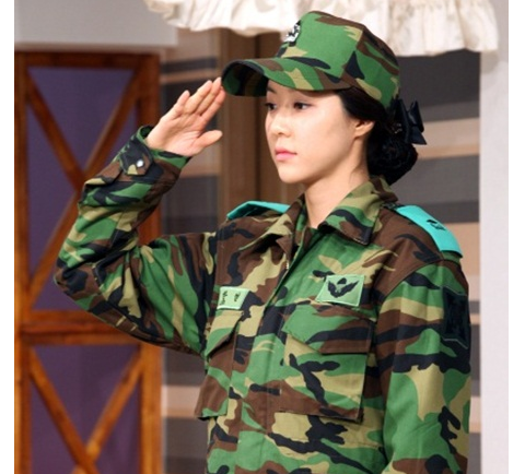 Park Han Byul Looks Good in an Army Uniform