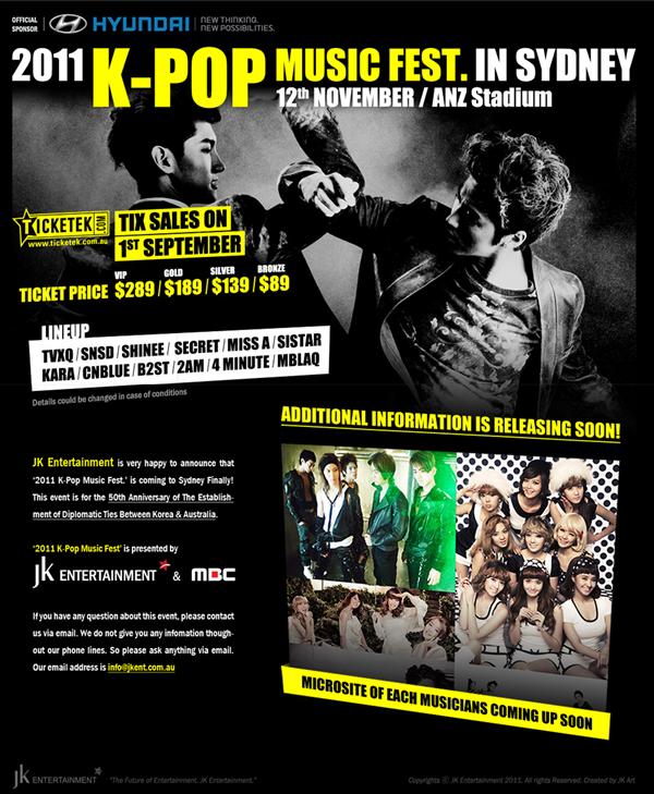 [Recap] 2011 K-Pop Music Festival in Sydney, Part 1