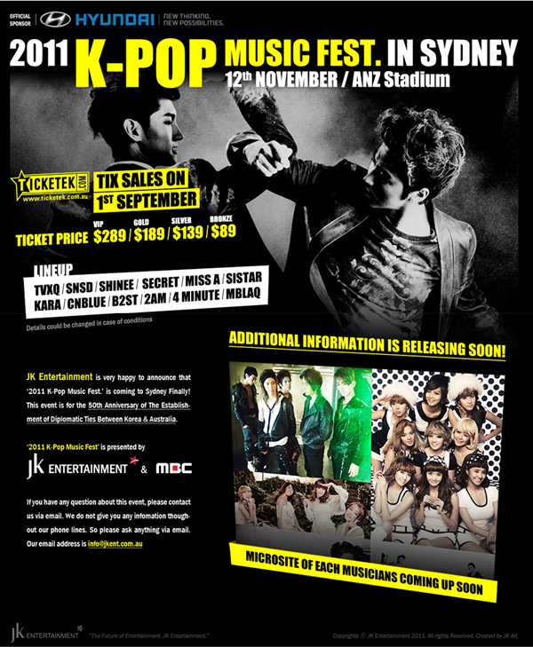 [Recap] 2011 K-Pop Music Festival in Sydney, Part 1