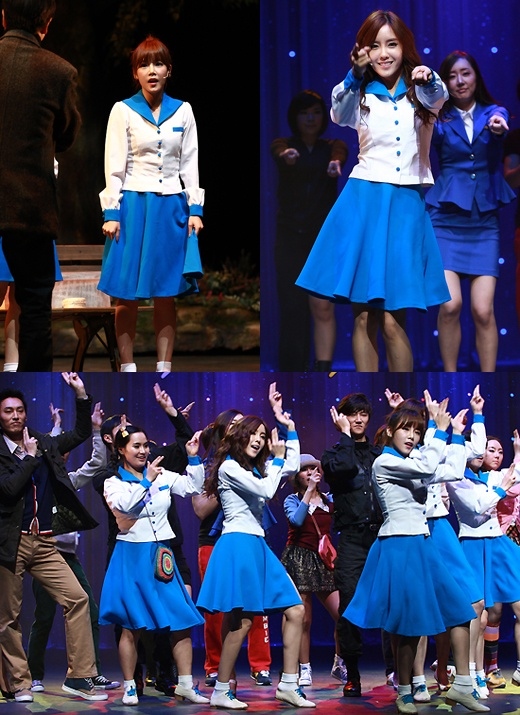"""T-ara's Soyeon and Hyomin Have First Performance for Musical """"Roly Poly"""""""