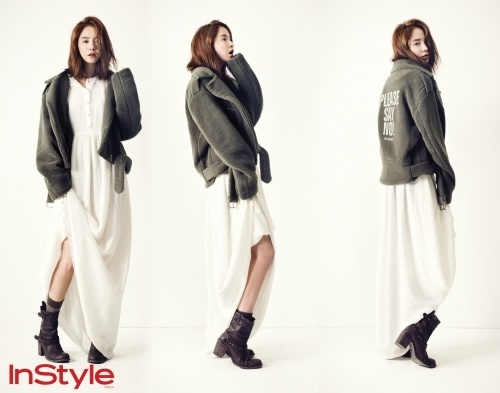 Song Ji Hyo Shows Dreamy Charm and Slender Legs in InStyle Magazine Shoot