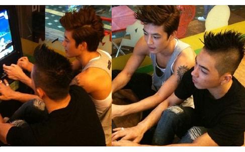 Taeyang and Se7en at the Arcade