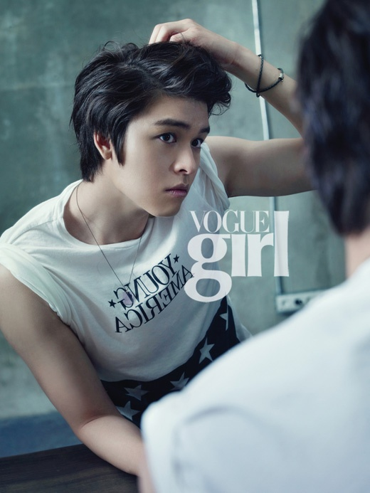 "Lee Jang Woo Shows Off Tender Charms in ""Vogue Girl"" Photospread"